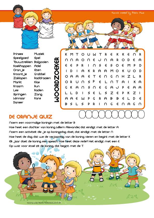 Puzzels - Kinder Puzzel Magazine lente editie 2016