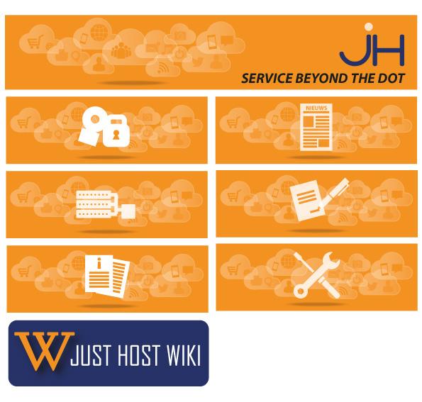 Grafisch Werk - Header voor Just Host